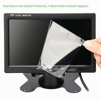 12V-24V 7 inch TFT LCD Color HD Monitor for Car CCTV Reverse Rear View Backup Camera