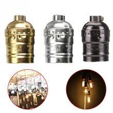 Retro Vintage E26/E27 bombilla de rosca carcasa de aluminio Base lámpara bombilla soporte colgante iluminación enchufe techo adaptador Cable