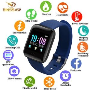 Image 1 - 116Plus 2020D13Smart Bracelet Fitness Tracker Heart Rate BloodPressureMonitorSmart Band IP67 Waterproof SportsForAndroid IOS+Box