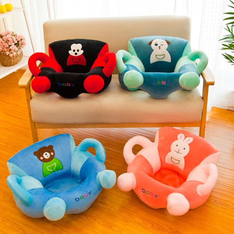 1pcs Kids Sit Learning Chair Cartoon Anti-fall Comfortable Baby Soft Sofa Cover Kid Sofa Cover Soft Seat Case No Cotton