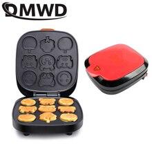 DMWD электрическая мультяшная вафельница для торта автоматическая машина для выпечки блинов для кексов мини блинная плита многофункциональная кастрюля для завтрака EU