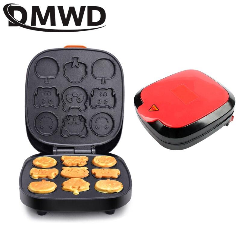 DMWD Electric Cartoon Waffle Cake Maker Automatic Muffin Pancake Baking Machine Mini Crepe Cooker Multifunction Breakfast Pan EU