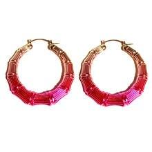 Новые модные градиентные серьги из розового золота для женщин