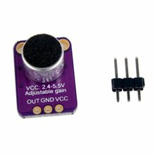 MAX4466 Electret Microphone Amplifier Module Noise immunity Preamplifier Adjustable Gain OUT GND VCC Board 2.4-5V DC