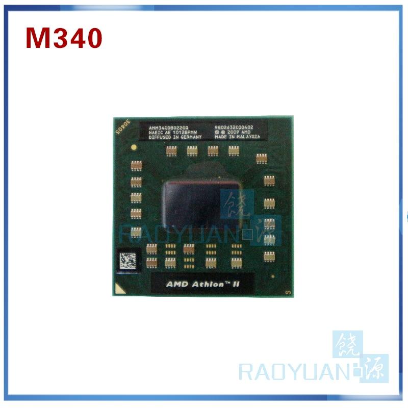 AMD Athlon II Dual-Core Mobile M340 AMM340DBO22GQ 2.2Ghz Notebook CPU Laptop Processor Socket S1 (S1G3)