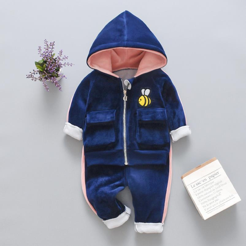2021 New Children's Clothes Sets Winter Girls and Boys Hooded Down Jackets Coat-Pant Overalls Suit for Warm Kids Clothin 6