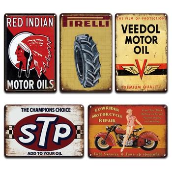 Cartel de Metal Vintage para coche BP NGK Pin-up Girl, carteles de hojalata Retro Garage Man Cave, decoración del hogar