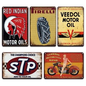 INDIAN POWER-LUBE-cartel de Metal Vintage para coche, cartel Pin-up para chica, carteles de hojalata, para el hogar Decoración Retro, cueva, garaje, hombre