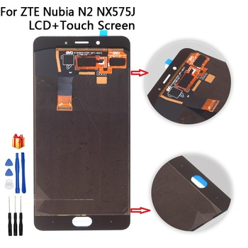 "5.5"" AMOLED LCD Display For ZTE Nubia N2 NX575J LCD Display Touch Screen Digitizer Assembly For ZTE Nubia N 2 LCD Repair parts"