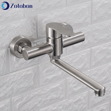 Waterfall Faucet Sink-Taps Wall-Mounted 360-Rotation Bathtub Kitchen Basin Cold 304-Stainless-Steel