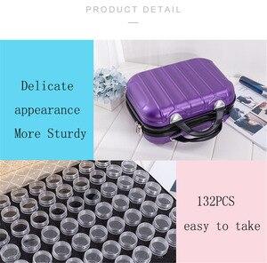 Image 3 - Huacan חדש 132 בקבוקי 5D יהלומי ציור אחסון תיבת כלי יהלום רקמת אביזרי יד תיק רוכסן מיכל