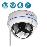 BESDER Wireless 2MP Audio IP Camera FHD 1080P di Sicurezza Domestica Dome WiFi Della Macchina Fotografica Vandal-proof 64G TF carta di Macchina Fotografica Esterna iCsee P2P