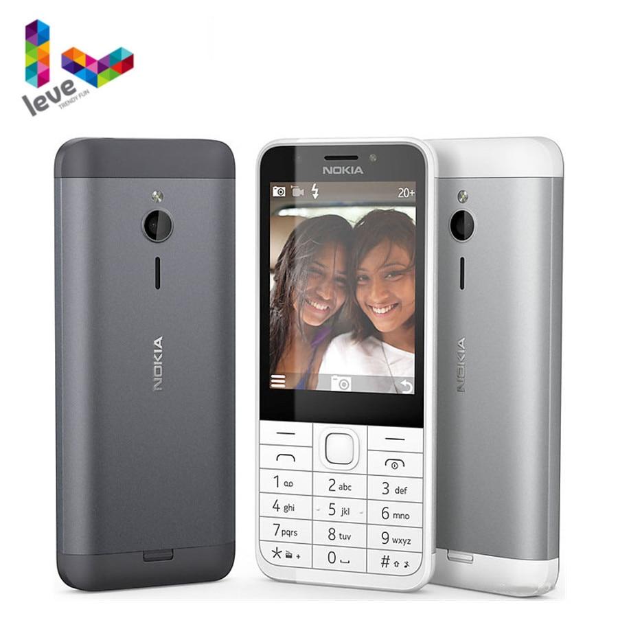 Used Unlocked Nokia 230 GSM 2.8 Inch Dual & Single SIM Card 2MP English&Hebrew&Arabic&Russian Keyboard Refurbished Mobile Phone