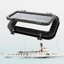 """Barche Finestra di Apertura Portlight Hatch ABS 4 millimetri di Vetro Temperato Per Camper Yacht Camper Etc Anti Uv 15.75*7.87 """"accessori Per barche Marine"""