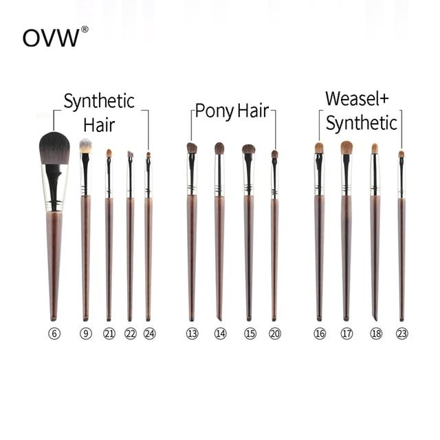 OVW  Face Goat Hair Powder Brush kist dlya pudry Lose Powder Pressed Porder Makeup Brushes kisti makiyazh Professional 6