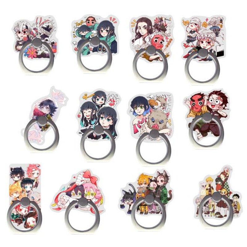 Japanese Cartoon Ghost Mobile Phone Stand Holder Finger Ring Smartphone Phone Stand For Iphone Huawei All Phone