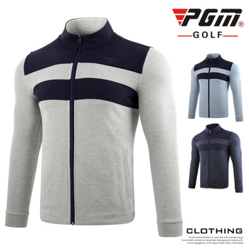 Men's Trench Coat Sportswear Long-Sleeved Golf Jacket Keep Warm Windbreaker Stand Collar Golf Apparel Leisure Golf Clothing