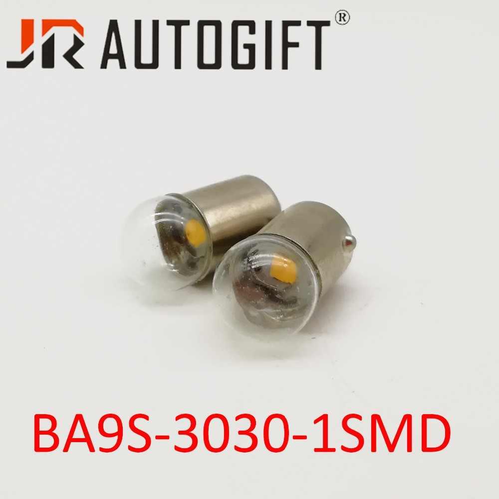 2 個 BA9S 3030 1SMD Led T4W 1 Smd 車のナンバープレートの電球パーキングライトドアランプ白 12 V