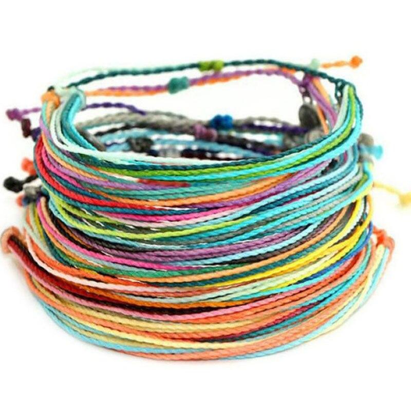 Multicolor Braided Bracelet Bundle 2