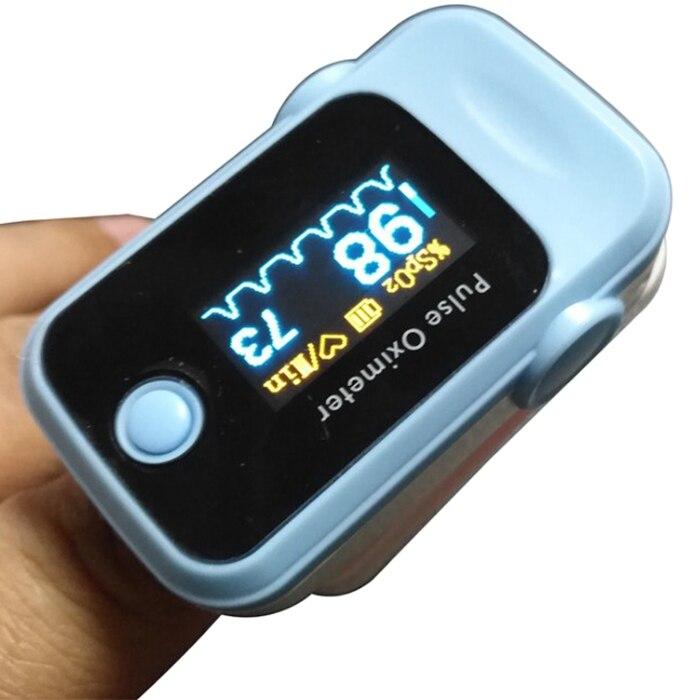 Пульсоксиметр с синими пальцами, пульсометр, бытовой прибор для контроля здоровья, пульсоксиметр с кислородом
