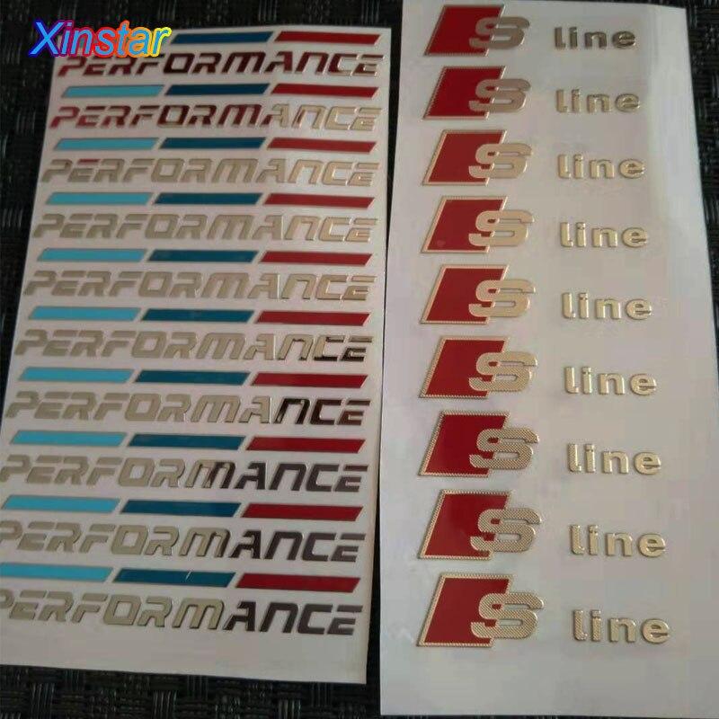 10pcs Aluminum M Power Performance car sticker for bmw 1 3 4 X1 X3 X4 X5 X6 F30 320 328 335 F10 E60 E90 E46 E28 E36