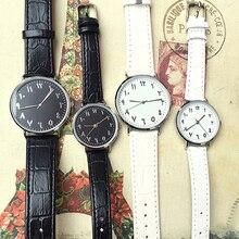 Unisex Wristwatch Analog Quartz Wrist Watch Women Luxury Arabic Numbers Faux Lea