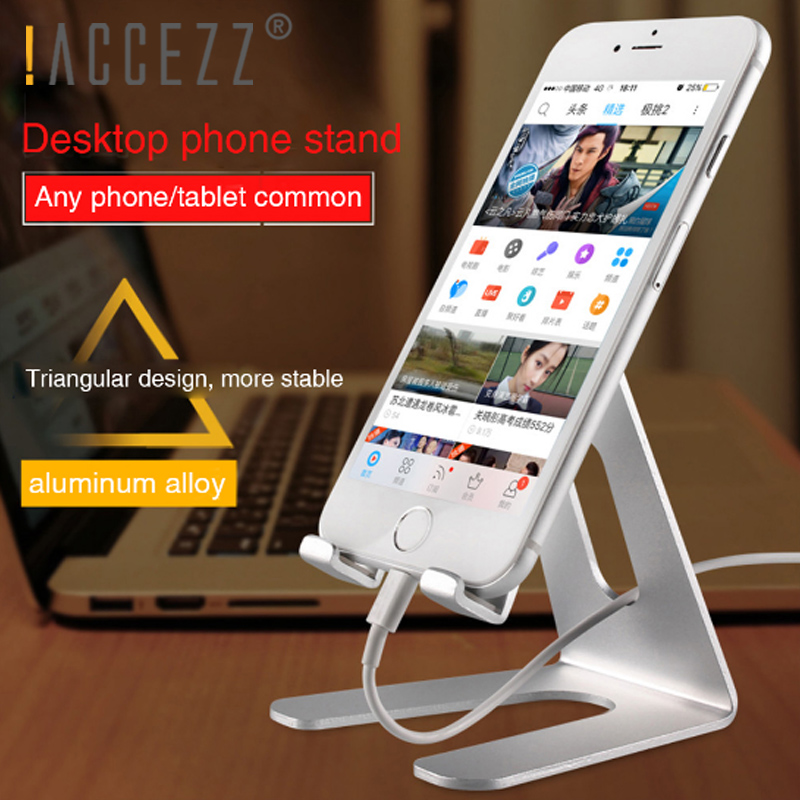 !ACCEZZ Universal Desktop Phone Holder For IPhone 8 Plus 11 Pro X For Samsung S10 For Huawei 30 Pro Support Bracket Tablet Stand
