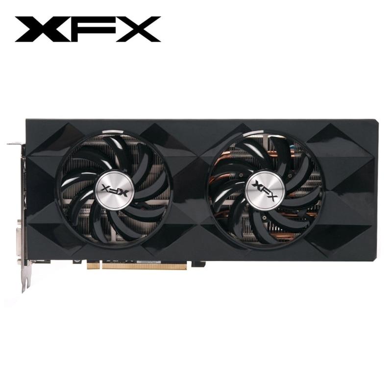 XFX R9 390 4GB Graphics Cards AMD Radeon R9390 4GB Video Screen Cards GPU Board Desktop Computer Game Map Videocard Not Mining