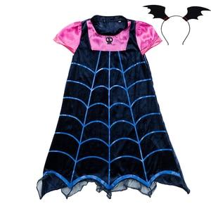 Girl Vampirina Costumes Cosplay Vampire Party Dress up Halloween Girls Dresses For Christmas Birthday Clothes Girls 2-12Y(China)