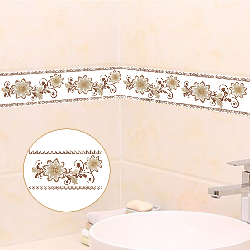 PVC Self-Adhesive Waterproof 3D Wallpaper Borders Living Room Bedroom Bathroom Luxury Home Decor Wallpaper For Walls Stickers 3D