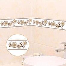 цена PVC Self-Adhesive Waterproof 3D Wallpaper Borders Living Room Bedroom Bathroom Luxury Home Decor Wallpaper For Walls Stickers 3D онлайн в 2017 году