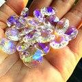200 шт./лот AB Цвет 14 мм стеклянные Восьмиугольные бусины в 2 отверстия для k9 хрустальные люстры  хрустальные бусины для занавесок Бесплатная д...