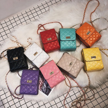 New Arrival Colorful Checkered Square Women Fashion Sling Bag Casual Shoulder Bag Chain Strap Bag MB639