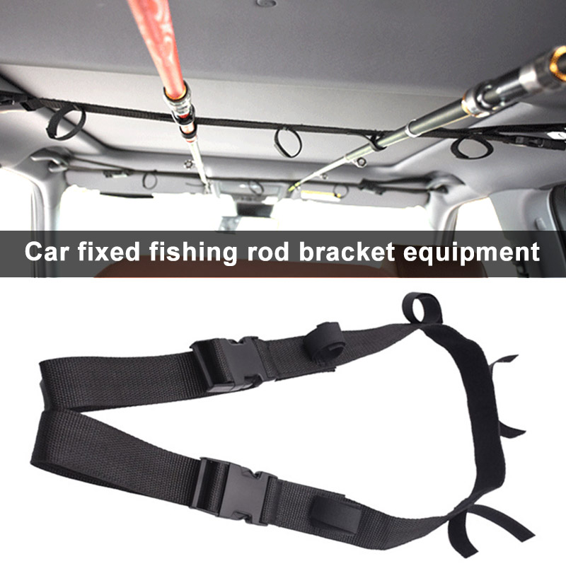 1pcs Car Fishing Rod Fixing Strap Adjustable Wear-resistant Durable Holder Belt FOU99