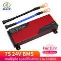 Mise à niveau 7S 80A 200A Li-ion batterie au Lithium 18650 chargeur PCB BMS Protection conseil avec équilibre pour perceuse moteur 24V Lipo cellule