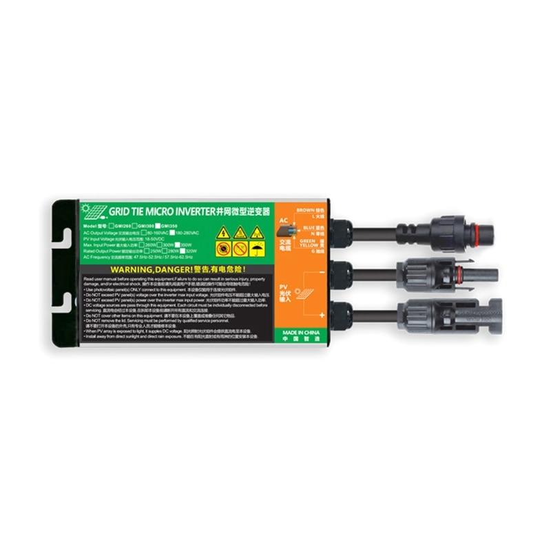 inversor solar do laco da grade micro 260w 300w 350w dc18v 50v a ac110v 230v 50hz