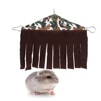 Small Pet Hideout Hideaway Tassels Curtain Corner House For Chinchilla Rabbit Rat Hedgehog Squirrel Small Pet Nest Toy