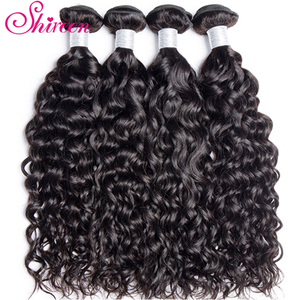 Image 4 - Shireen Brazilian Hair Water wave Bundles With Lace Closure Non Remy 4 Bundles Deals Human Hair Bundles With 4*4 Lace Closure