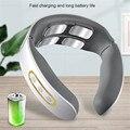 4D Smart Электрический согревающий массаж шеи и спины импульсный массажер 6 Режим тепла шейного позвонка Массаж расслабиться боли разминающий ...