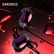 EARDECO 귀에 유선 헤드폰 마이크와 함께 전화에 대 한 이어폰 이어폰베이스 헤드셋 휴대 전화 아이폰 Xiaomi