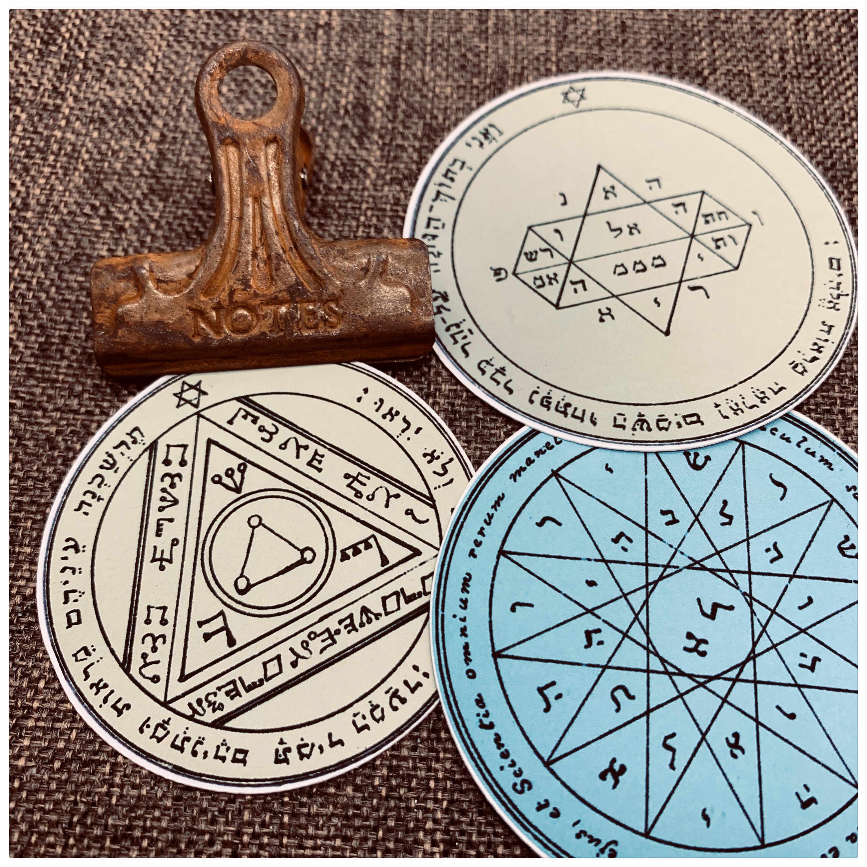 18 sztuk/worek Vintage Magic Solomon Disk naklejka DIY Album Scrapbooking pamiętnik szczęśliwy Plan prezent Seal naklejka dekoracyjna