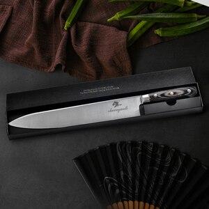 Image 4 - Профессиональный нож шеф повара из немецкой нержавеющей стали 1,4116, нож Gyuto, высококачественные кухонные ножи, кухонный инструмент