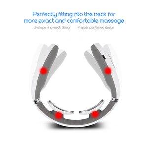 Image 5 - Appareil de massage intelligent à impulsions pour le cou, stimulateur électrique, soulagement des douleurs cervicales, thérapie, acupuncture, application par ventouses