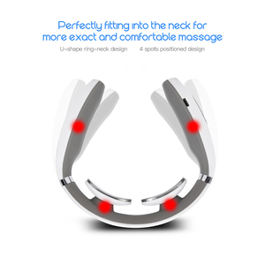 Image 5 - Electric Pulse Neck Massager Cervical Traction Collar Therapy Pain Relief Stimulator Guasha Acupuncture Cupping Patting Massage