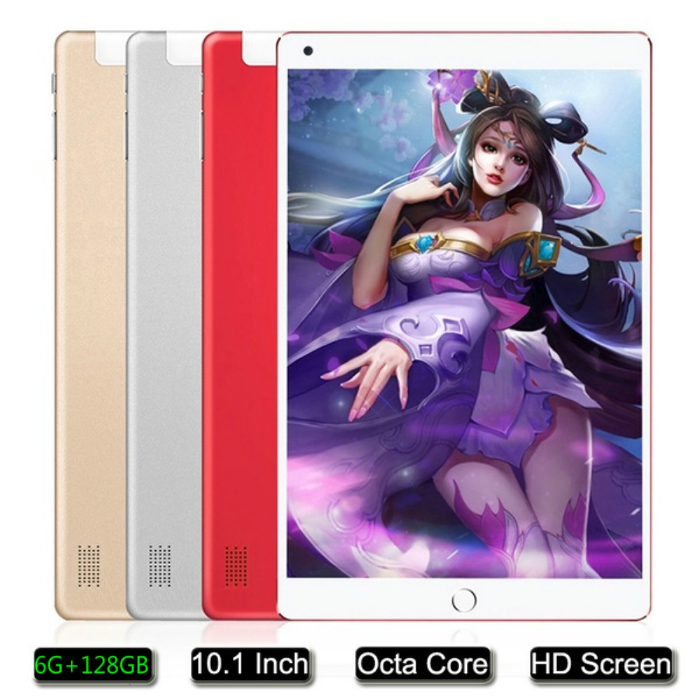 2020 New Arrival 10 Inch Android 8.0 Tablet PC Octa Core 6G RAM 128GB ROM WIFI  4G Phone Call Dual SIM Dual Camera Kids Tablets