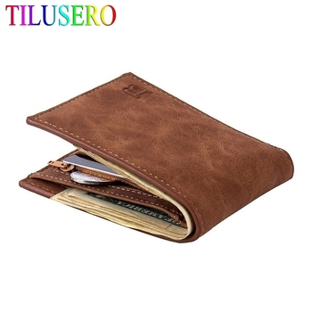 2020 New Fashion PU Leather Men's Wallet With Coin Bag Zipper Small Money Purses Dollar Slim Purse New Design Money Wallet