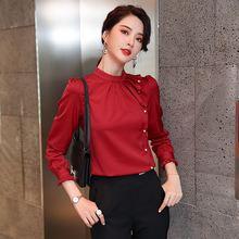 Осень нового размера плюс женские рубашки высокого качества