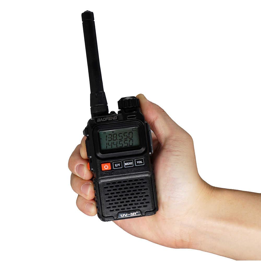 2 قطعة BAOFENG UV-3R زائد لاسلكي متعدد الموجات المحمولة CB اسلكية تخاطب UV3R + إنترفون FM جهاز الإرسال والاستقبال هام راديو UV 3R اتجاهين