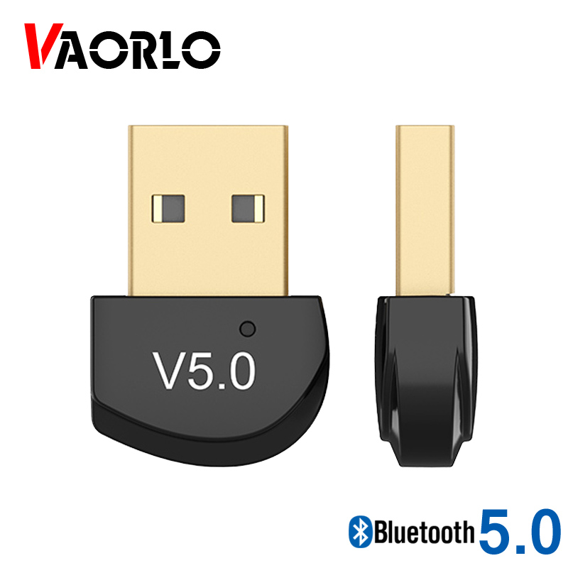 VAORLO Bluetooth 5.0 Transmitter Wireless Dongle For Computer Wireless Mouse Adapter Stable Transmission Mini Adapter Dongle