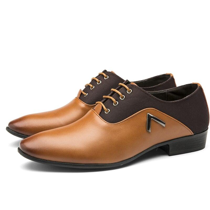 Fashion Business Dress Men Shoes 2019 New Classic Leather Men'S Suits Shoes Fashion Slip On Dress Shoes Men Oxfords